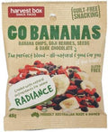 Harvest Box Go Bananas, Dried Fruit, Banana Chips, Dark Choc, Seeds G/F 45g