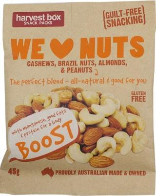 Harvest Box We Love Nuts G/F 45g
