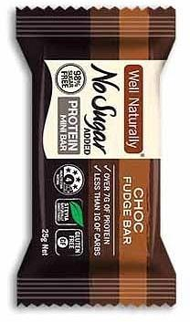 Well,naturally NAS Protein Mini Bar Choc Fudge 20x25g-Health Tree Australia
