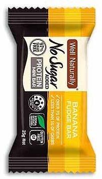 Well,naturally NAS Protein Mini Bar Banana Fudge 20x25g-Health Tree Australia