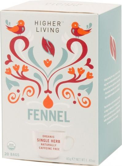 Higher Living Organic Fennel Tea 15Teabags-Health Tree Australia