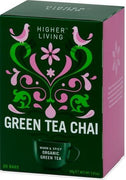 Higher Living Organic Green Tea Chai 20Teabags-Health Tree Australia