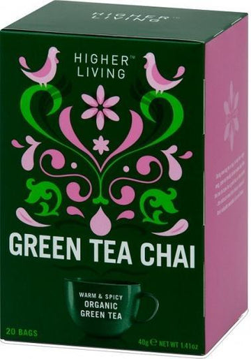 Higher Living Organic Green Tea Chai 20Teabags