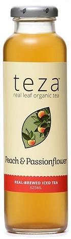Teza Peach & Passionflower Real Brewed Iced Tea 12x325ml-Health Tree Australia