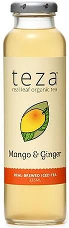 Teza Mango & Ginger Real Brewed Iced Tea 12x325ml-Health Tree Australia