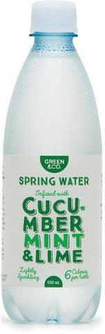 Green & Co Spring Water Infused with Cucumber, Mint & Lime 500ml-Health Tree Australia