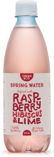 Green & Co Spring Water Infused with Raspberry, Hibiscus & Lime 500ml-Health Tree Australia