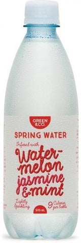 Green & Co Spring Water Infused with Watermelon, Jasmine, Mint 500ml-Health Tree Australia