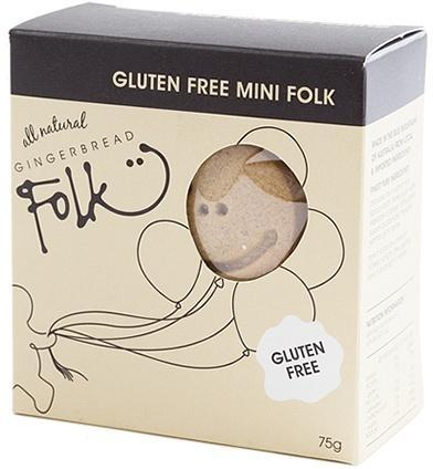 Gingerbread Folk Gluten Free Mini Folk 75g-Health Tree Australia