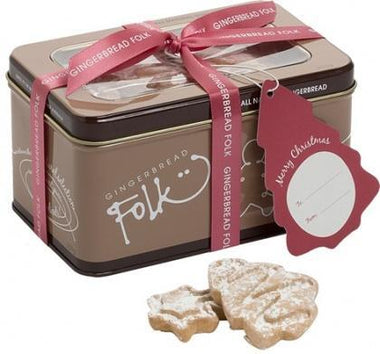 Gingerbread Folk Christmas Minatures Cookies in Tin 200g-Health Tree Australia