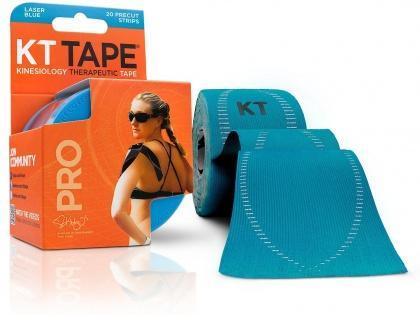 "KT Tape Pro 20 Precut 10"" Strips Laser Blue-Health Tree Australia"