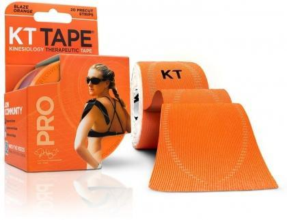 "KT Tape Pro 20 Precut 10"" Strips Blaze Orange-Health Tree Australia"