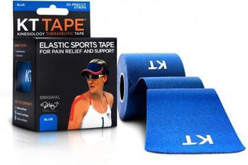 "KT Tape Cotton 20 Precut 10"" Strips Blue"