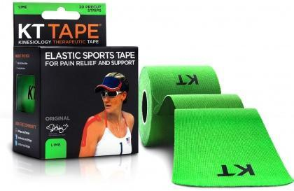 "KT Tape Cotton 20 Precut 10"" Strips Lime-Health Tree Australia"