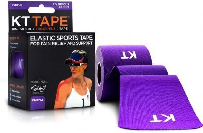 "KT Tape Cotton 20 Precut 10"" Strips Purple-Health Tree Australia"
