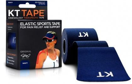 "KT Tape Cotton 20 Precut 10"" Strips Navy-Health Tree Australia"