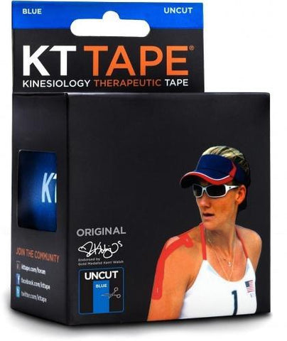 KT Tape Cotton 16 ft Uncut Blue-Health Tree Australia