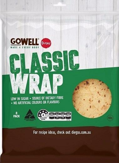 Diego's GoWell Classic Wrap (8Pack) 400g-Health Tree Australia