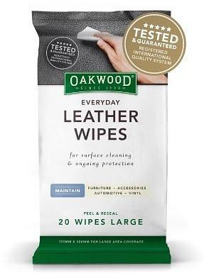 Oakwood Everyday Leather Wipes Large (170mmx300mm) 20 pack-Health Tree Australia