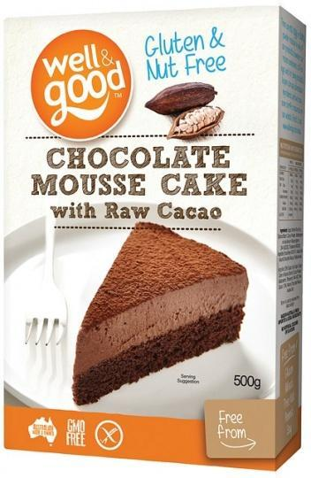 Well And Good Chocolate Mousse Cake with Raw Cacao G/F 500g-Health Tree Australia