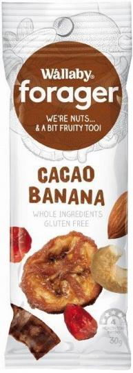 Wallaby Forager Cacao Banana Snacks 8x35g SEP17-Health Tree Australia