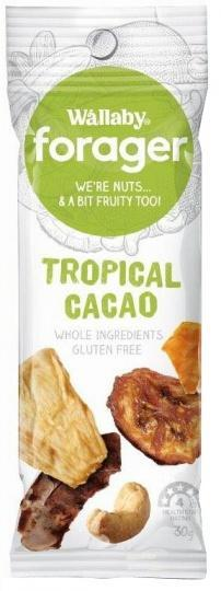 Wallaby Forager Tropical Cacao Snacks 8x35g-Health Tree Australia