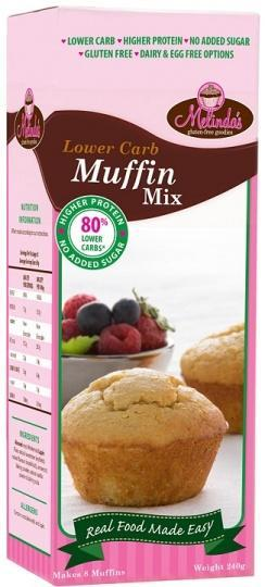 Melindas Lower Carb Muffin Mix G/F 240g-Health Tree Australia