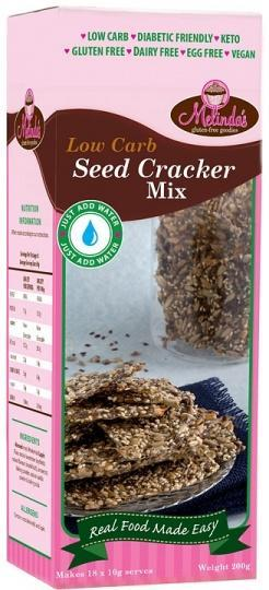 Melindas Low Carb Seed Cracker Mix G/F 200g