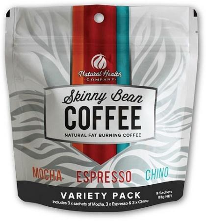 Natural Health Co Skinny Bean Coffee Variety Pack (3xMocha, 3xEspresso, 3xChino) 83g-Health Tree Australia