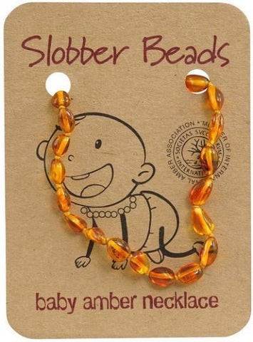 Slobber Beads Baby Honey Oval Necklace-Health Tree Australia