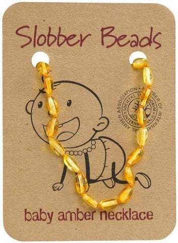 Slobber Beads Baby Lemon Oval Necklace-Health Tree Australia