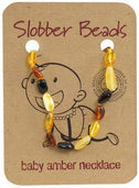 Slobber Beads Baby Multi Oval Necklace-Health Tree Australia