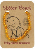 Slobber Beads Baby Honey Round Necklace