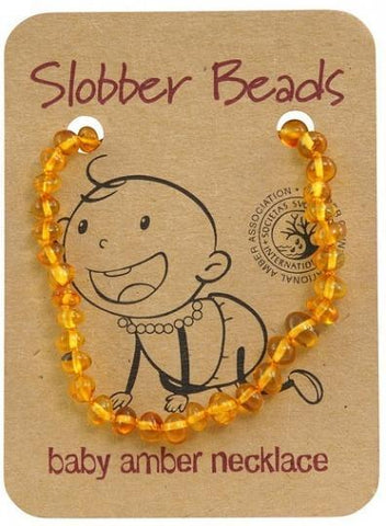 Slobber Beads Baby Honey Round Necklace-Health Tree Australia