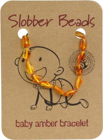Slobber Beads Baby Honey Oval Bracelet-Health Tree Australia