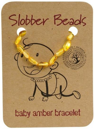Slobber Beads Baby Lemon Oval Bracelet-Health Tree Australia