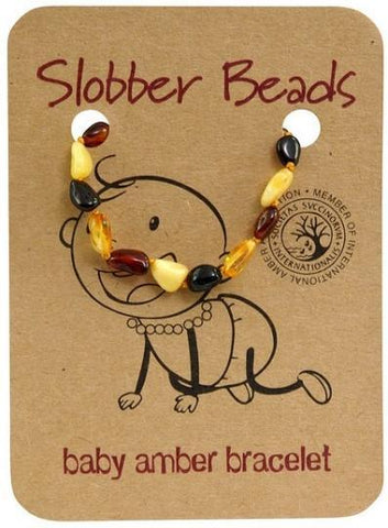 Slobber Beads Baby Multi Oval Bracelet-Health Tree Australia