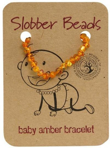 Slobber Beads Baby Honey Round Bracelet-Health Tree Australia