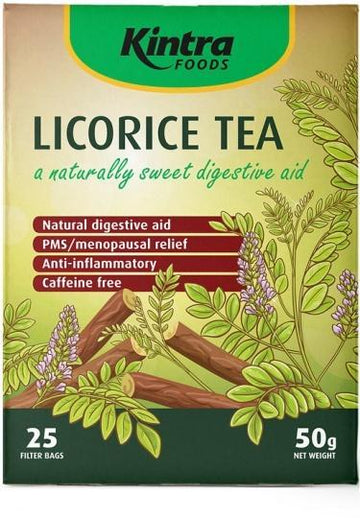 Kintra Foods Licorice Tea A Naturally Sweet Digestive Aid 25Teabags