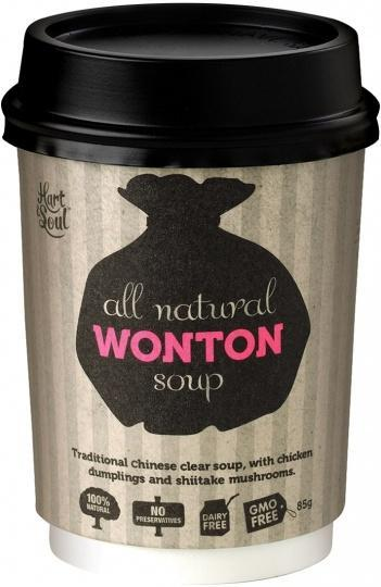 Hart & Soul All Natural Wonton Soup in a Cup 85g-Health Tree Australia