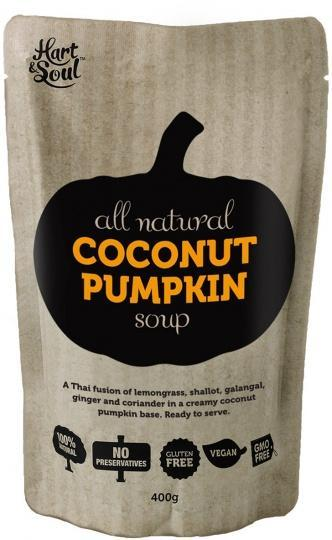 Hart & Soul All Natural Coconut Pumpkin Soup in Pouch 400g-Health Tree Australia