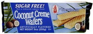 Voortman Sugar Free Coconut Creme Wafers 225g