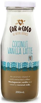 Cor de Coco Coconut Vanilla Latte 6x280ml-Health Tree Australia
