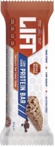 Atkins Lift Chocolate Chip Cookie Dough Protein Bar G/F 15x60g-Health Tree Australia