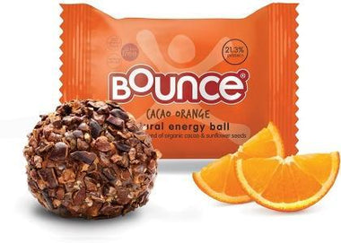 Bounce Orange Cacao Balls G/F 12x42g-Health Tree Australia