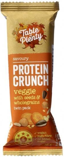 Table of Plenty Protein Crunch Veggie with Seeds and Wholegrains 12x36g-Health Tree Australia