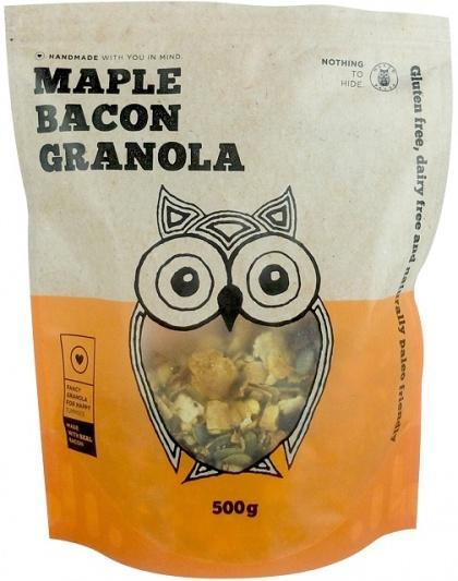 Naked Paleo Maple Bacon Granola G/F 500g-Health Tree Australia