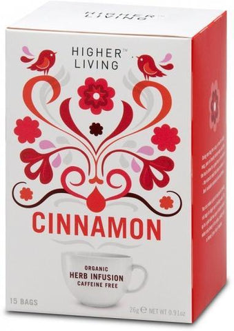 Higher Living Organic Cinnamon Tea Caffeine Free 15Teabags-Health Tree Australia