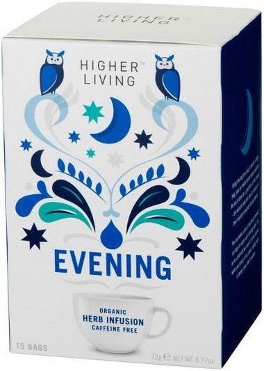 Higher Living Organic Evening Tea Caffeine Free 15Teabags-Health Tree Australia