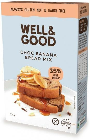 Well And Good Choc Banana Swirl Bread Mix (Red Sugar) G/F 375g-Health Tree Australia